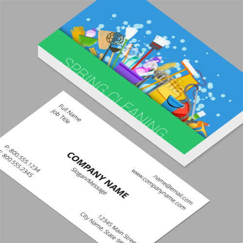 Business cards standard horizontal customizable design templates cleaning business cards colourmoves