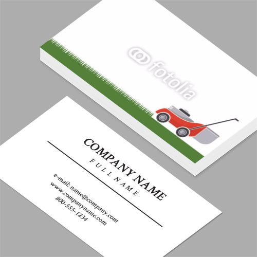 Business cards standard horizontal customizable design templates lawn care business cards colourmoves
