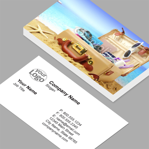 Travel agency business cards standard horizontal customizable travel business cards colourmoves