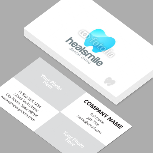 dental business cards standard horizontal customizable design