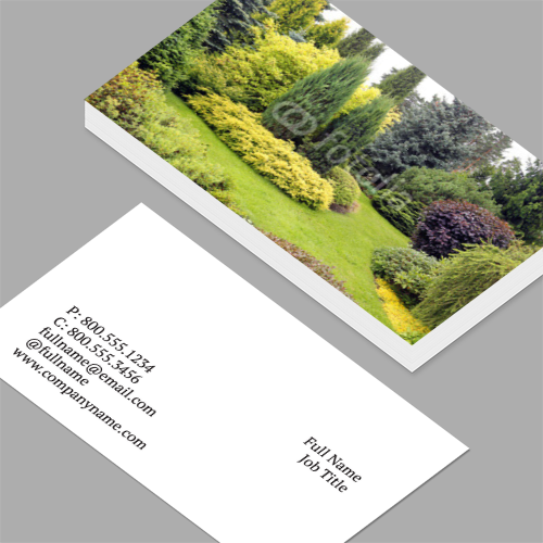Business cards standard horizontal customizable design templates landscaping business cards colourmoves