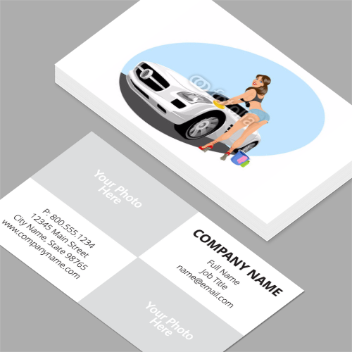 Heart business cards standard horizontal customizable design car wash business cards colourmoves