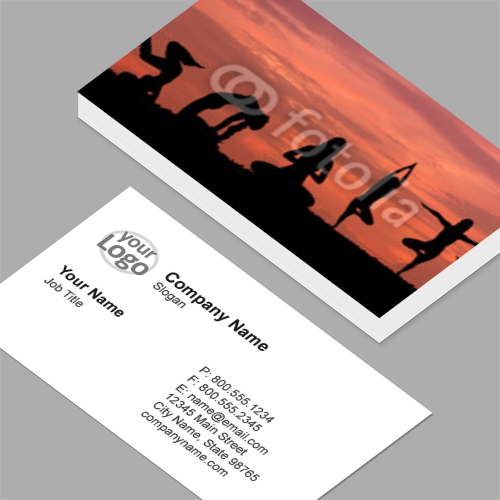Graduation business cards standard horizontal customizable yoga business cards reheart Image collections